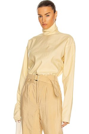 LEMAIRE High Neck Second Skin Top in Cream