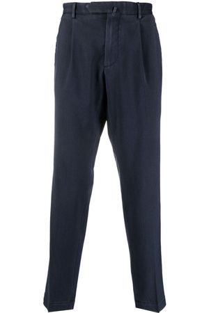 DELL'OGLIO Box-pleat cropped trousers