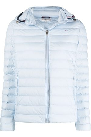 Tommy Hilfiger Embroidered-logo quilted jacket