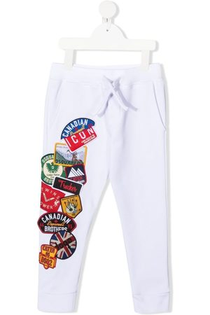 Dsquared2 Boys Trousers - Multi-logo patches track pants