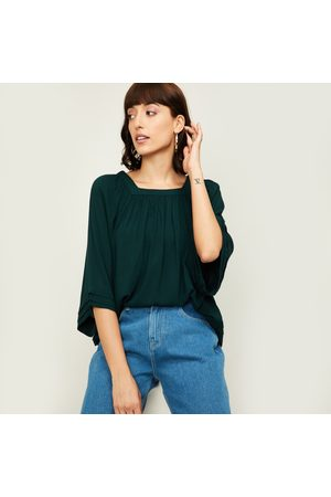 Fame Forever Women Tops - Women Solid Square Neck Top