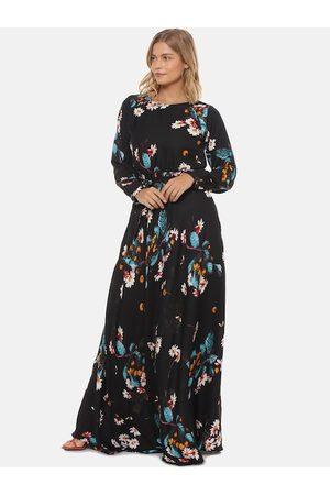 Campus Women Black Printed Maxi Dress