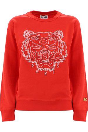 Kenzo Women Sweatshirts - EMBROIDERED TIGER SWEATSHIRT