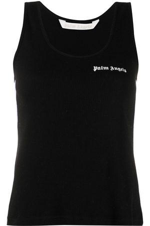 Palm Angels WOMEN'S PWAC006S21JER0011001 COTTON TANK TOP