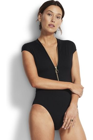 Seafolly Zip Front Swimsuit