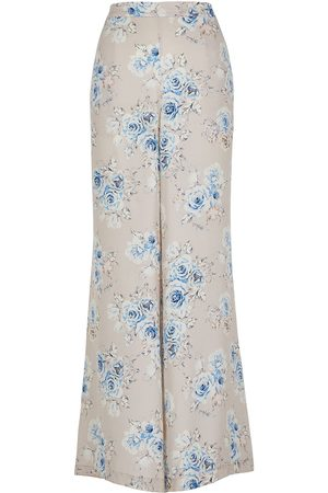 Lindsay Nicholas New York Palazzo Pants in Floral Silk