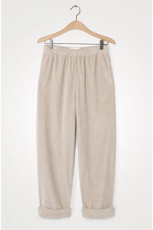 American Vintage Padow Cord Trousers Mastic