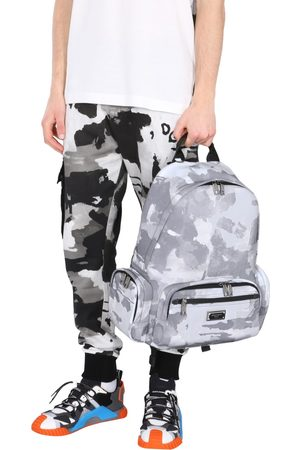 Dolce & Gabbana BACKPACK WITH CAMOFLAUGE PRINT AND LOGO