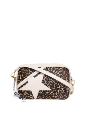 Golden Goose Star Bag Pony Leo Front Panel Leather Star And Shoulder Strap