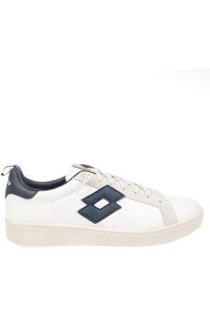 Lotto Men Sneakers - MEN'S 212387SNOWWHITEBLUE LEATHER SNEAKERS