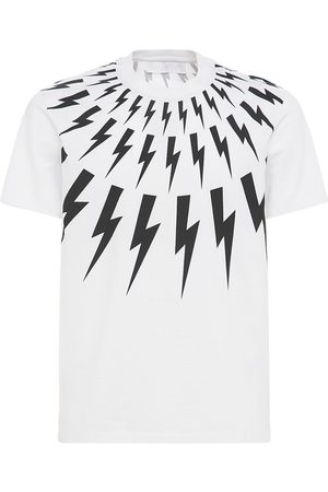 Neil Barrett Multi Thunderbolt Print Jersey T-shirt