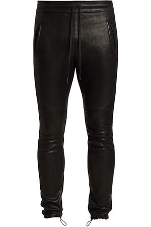 JOHN ELLIOTT Men Leather Trousers - Leather Escobar Pants