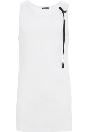 ANN DEMEULEMEESTER Men Tank Tops - Cote Cotton Tank Top