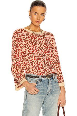 Saint Laurent Leopard Sweater in &