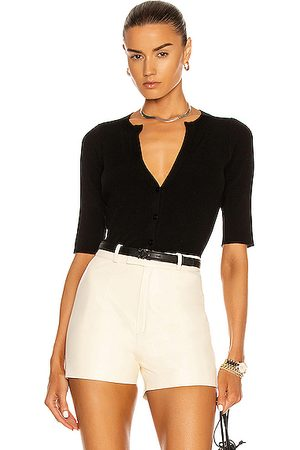L'Agence Carrie Short Sleeve Cardigan in