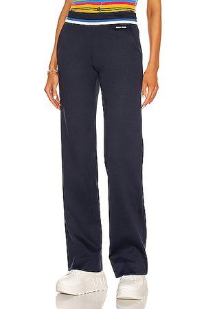 Miu Miu Lux Fleece Trouser in Baltico & Azzurro