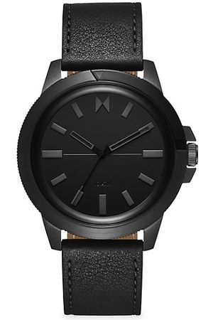 MVMT Men Watches - Minimal Sport Caspian Stainless Steel & Leather-Strap Watch