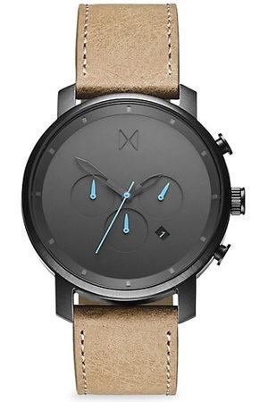 MVMT Men Watches - Chrono Gunmetal Stainless Steel & Leather-Strap Chronograph Watch
