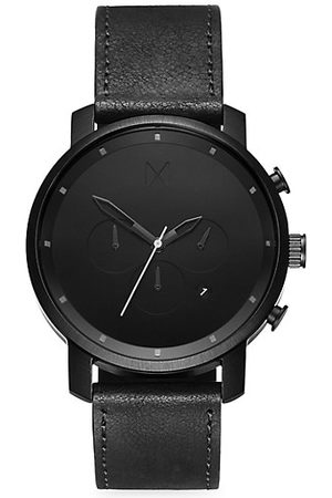 MVMT Men Watches - Chrono Stainless Steel & Leather-Strap Chronograph Watch