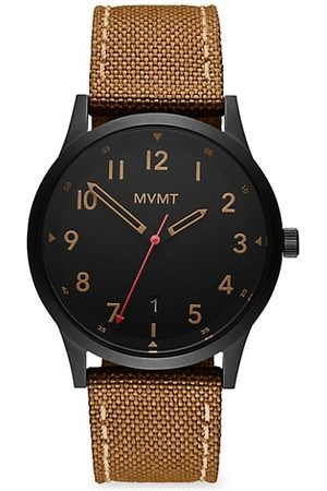 MVMT Men Watches - Field Range Stainless Steel & Canvas-Strap Watch