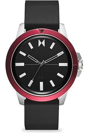 MVMT Men Watches - Minimal Sport Red Sea Stainless Steel & Silicone-Strap Watch