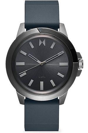MVMT Men Watches - Minimal Sport Pacific Mist Gunmetal Stainless Steel & Silicone-Strap Watch