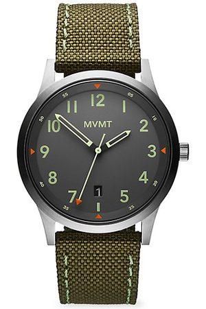 MVMT Men Watches - Field AT Stainless Steel & Canvas-Strap Watch