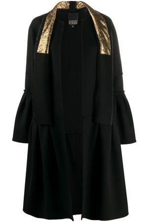 Gianfranco Ferré Women Coats - Ruffled details knee-length coat