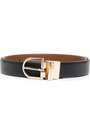 Emporio Armani Women Belts - Engraved logo belt
