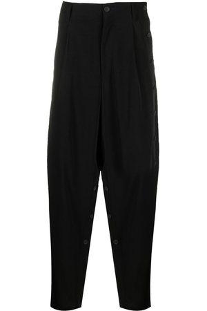 YOHJI YAMAMOTO Drop-crotch linen trousers