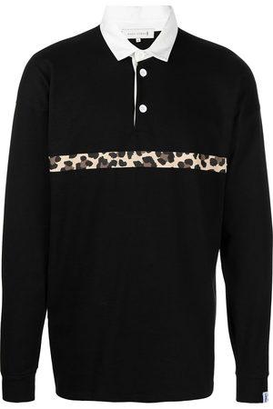 MACKINTOSH Men Polo Shirts - Leopard stripe rugby shirt