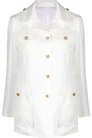 TAGLIATORE Women Jackets - Belted button-detail jacket