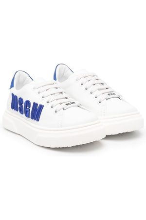 Msgm Boys Sneakers - Logo-embroidered trainers