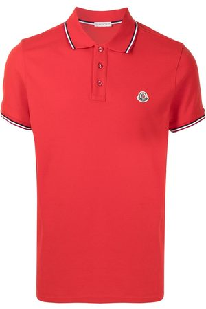 Moncler Men Polo Shirts - Tricolour-trim polo shirt