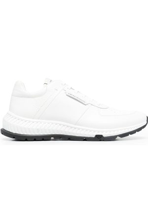 Emporio Armani Men Sneakers - Leather-panel lace-up trainers