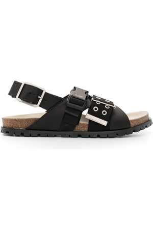 A.P.C. X SACAI buckled leather sandals