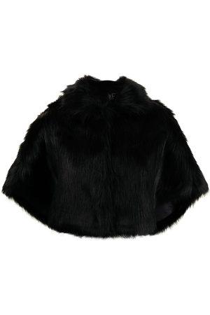 Unreal Fur Women Ponchos & Capes - Nord faux-fur cropped cape