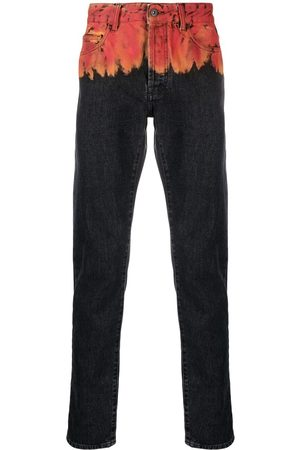 MARCELO BURLON Men Slim - Flame-print jeans