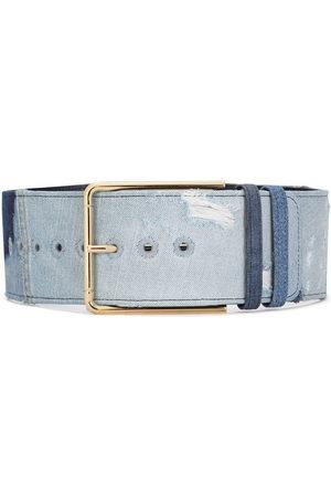 Dolce & Gabbana Women Belts - Gold-tone denim belt