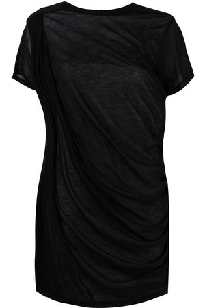 Rick Owens Gathered cotton T-shirt