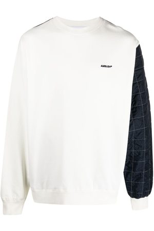 AMBUSH Mix quilted fleece sweatshirt
