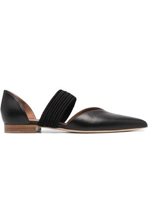 MALONE SOULIERS Pointed leather ballerina shoes
