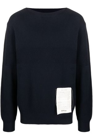 BALLANTYNE Men Jumpers - Ribbed-knit cotton jumper