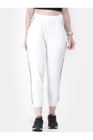 Cation Women White Solid Joggers