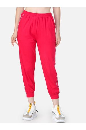 Cation Women Magenta Pink Solid Joggers