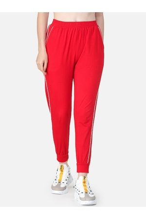 Cation Women Red Solid Joggers