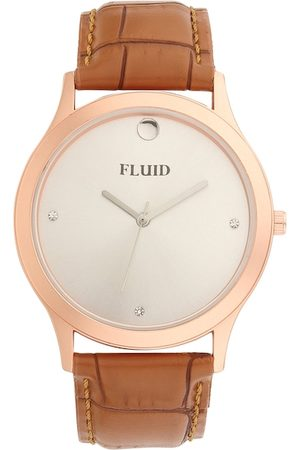 FLUID Men White Analogue Watch