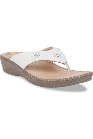 Scholl Women White Printed Leather Heels