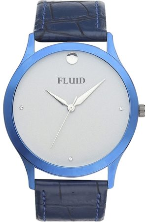 FLUID Men Blue & Grey Analogue Leather Watch FL-787G-GRY01