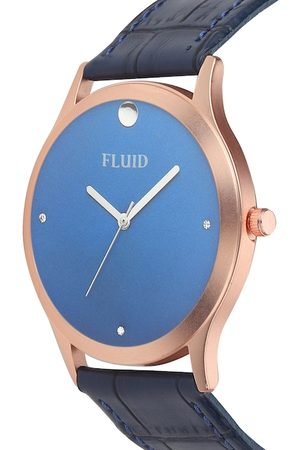 FLUID Men Blue Leather Analogue Watch FL-786G-BL01